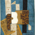 Guitar, a collage by Picasso from 1913.